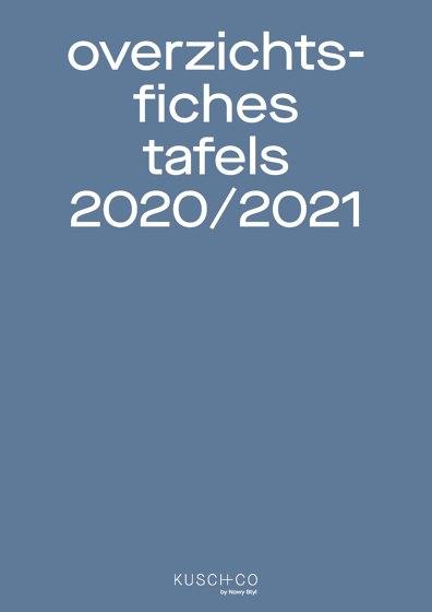Overzichts Fiches Tafels 2020/2021