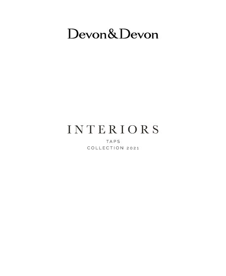 Interiors   Taps   Collection 2021