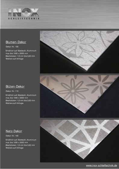 Inox Schleiftechnik | Dekor Katalog
