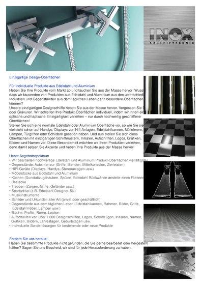 Inox Schleiftechnik | Einzigartige Designoberflächen