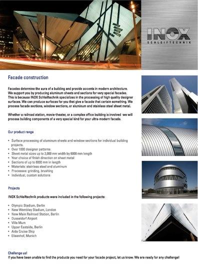Inox Schleiftechnik | Facade Construction