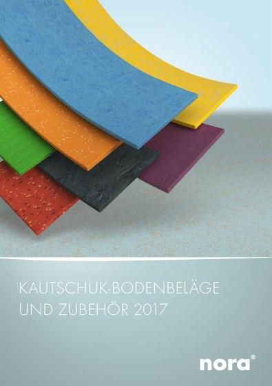nora® Kautschuk-Bodenbeläge und Zubehör 2017
