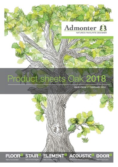Product sheets Oak 2018