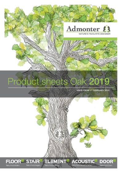 Product sheets Oak 2019