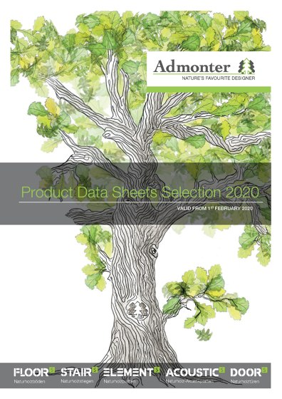 Product Data Sheets Selection 2020