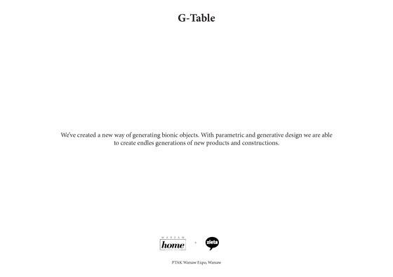 Zieta G-table