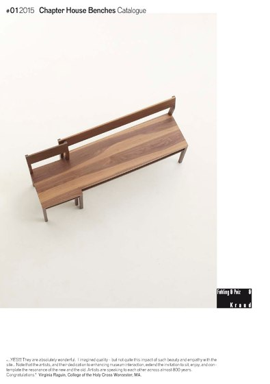 Chapter House Bench Catalogue 2015