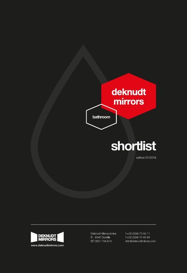 Deknudt Mirrors Bathroom Collection