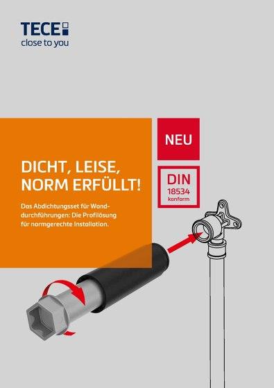 Das Abdichtungsset für Wanddurchführungen: Die Profilösung für normgerechte Installation.