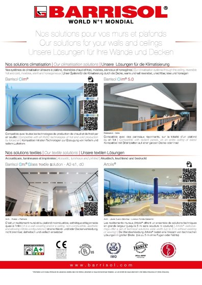 SOLUTIONS FOR WALLS AND CEILINGS