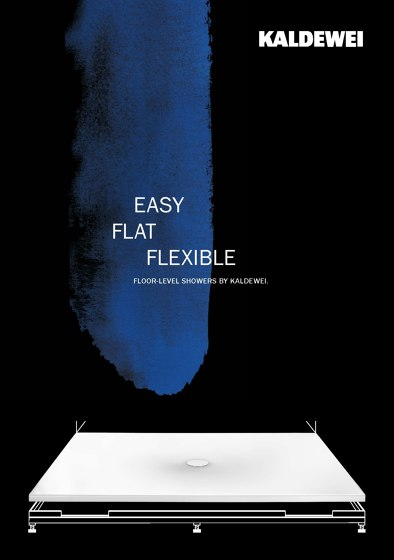 Easy Flat Flexible – Floor Level Showers By Kaldewei.