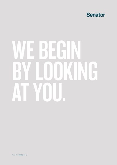 We begin by looking at you.