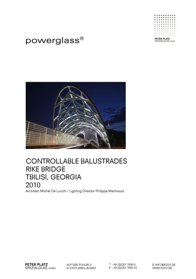 powerglass® Balustraden Rike Brücke