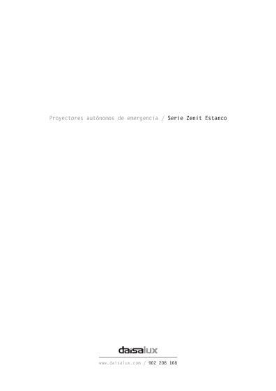 Proyectores autónomos de emergencia / Serie Zenit Estanco