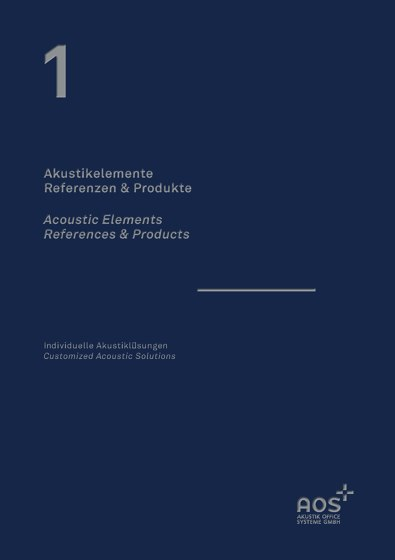 Acoustic Elements - References & Products