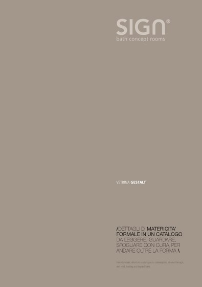 Sign Catalogue Gestalt 2013
