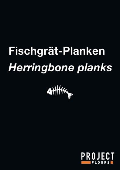 Broschure Herringbone planks