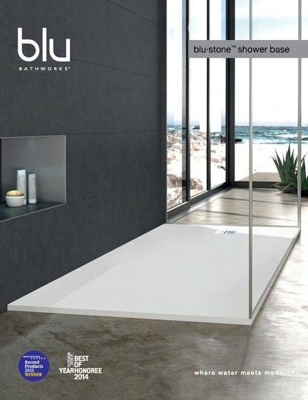 Blu Bathworks Blu-Stone Shower Base