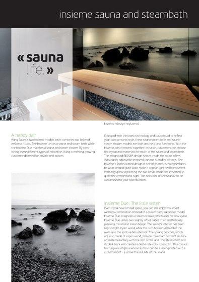 Insieme Sauna/Dampfbad