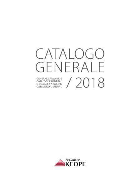 GENERAL CATALOGUE 2018