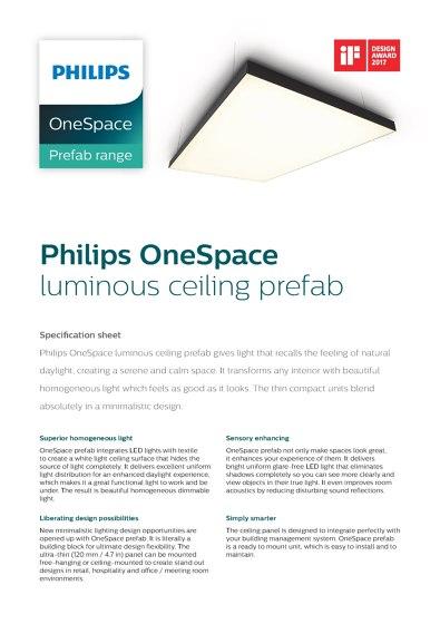 Philips OneSpace luminous ceiling prefab