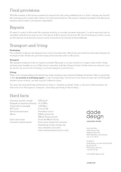 Concrete kitchen planning guide