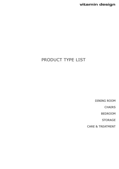 Product Type List