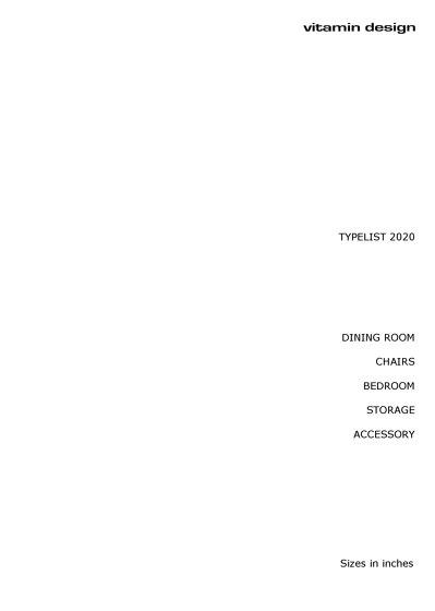 Typelist (inches)
