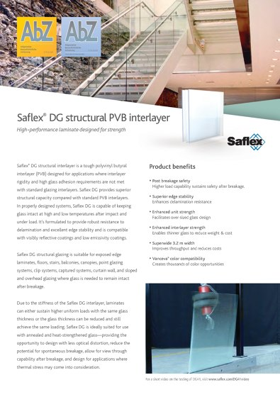 Saflex DG structural PVB interlayer