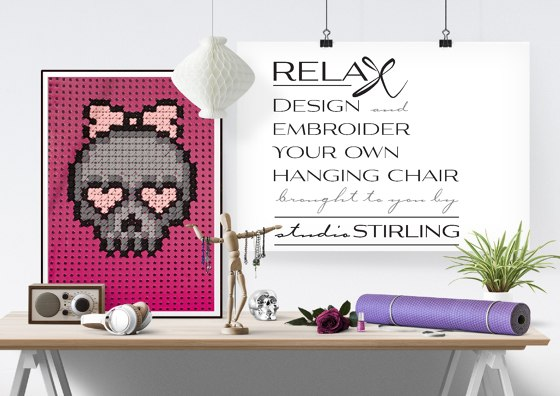 Design and embroider your own hanging chair