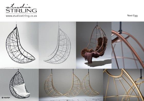 Nest egg hanging chair
