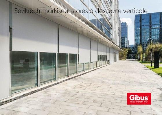 Senkrechtmarkisen | stores à descente verticale