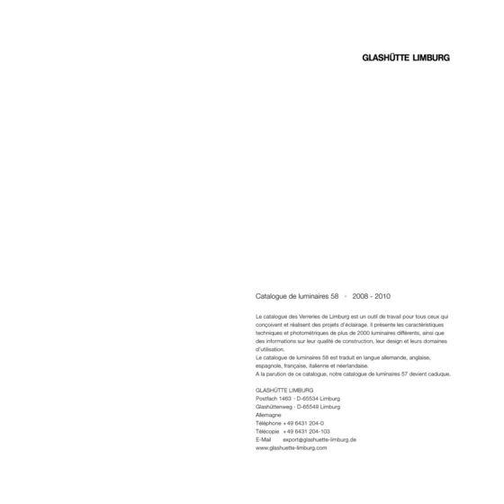 GLASHUETTE CATALOGUE