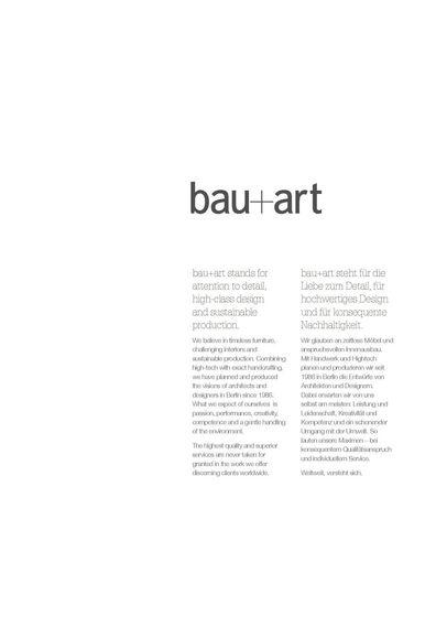 bau+art Imagebrochue 2010