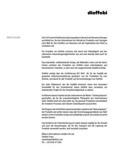 dieffebi Orgatec 2010 Press release