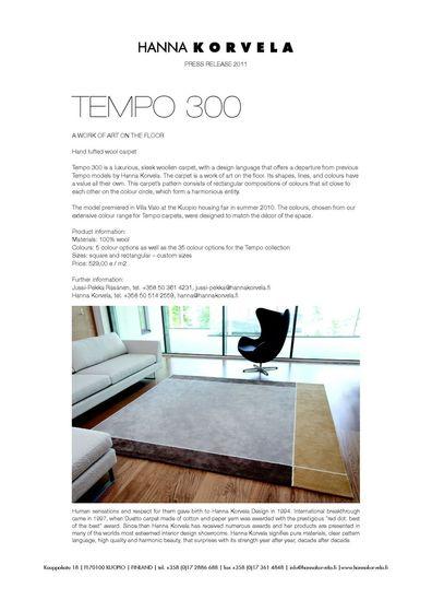 HannaKorvela-Tempo 300-2011
