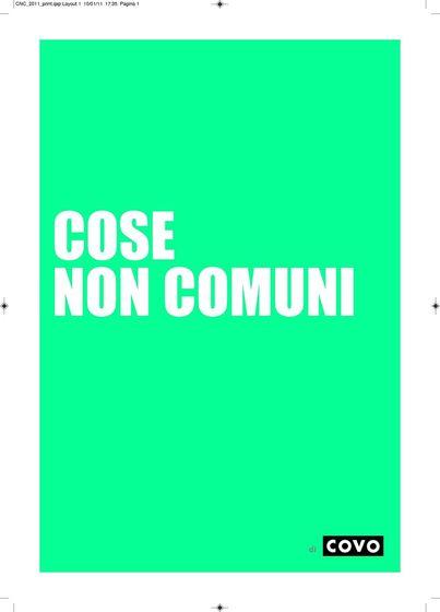 COSE NON COMUNI 2011