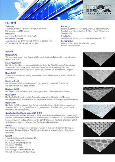 Inox Schleiftechnik | Fakten