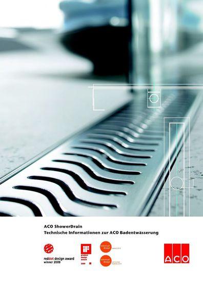 Aco ShowerDrain Technische Informationen zur ACO Badentwässerung