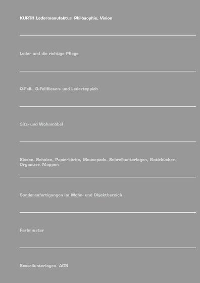 KURTH Manufaktur Catalog