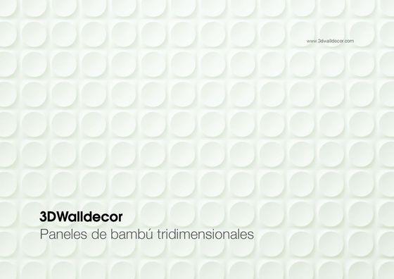 3DWalldecor - Paneles de bambu tridimensionales