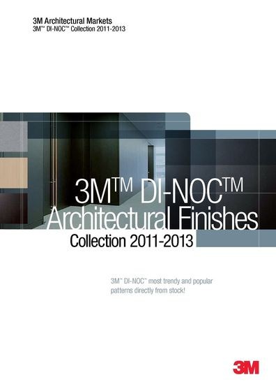 3M™ DI-NOC™ Architectural Finishes Short Rolls Collection 2011-2013
