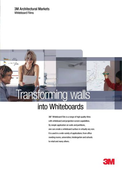 3M™  Whiteboard Film Product Brochure