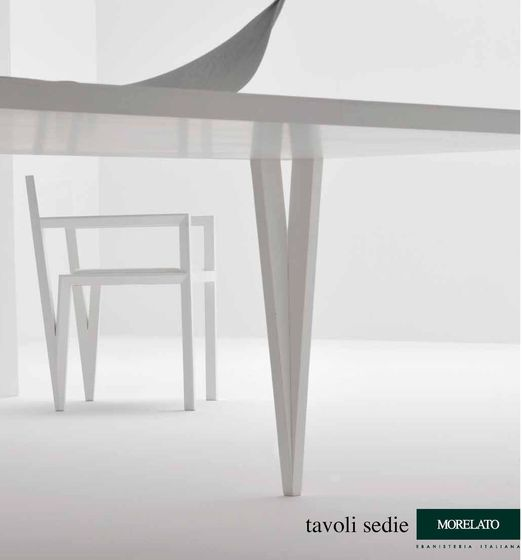 Morelato Tables and chairs 2012