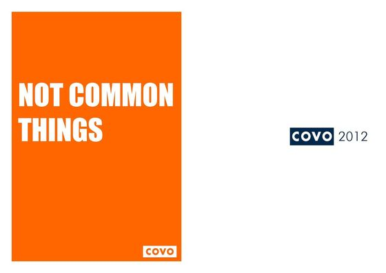 COVO Not Common Things 2012