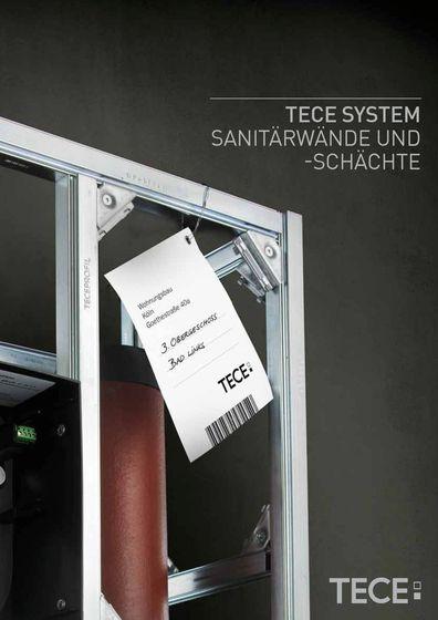TECE SYSTEM Sanitärwände und -schächte