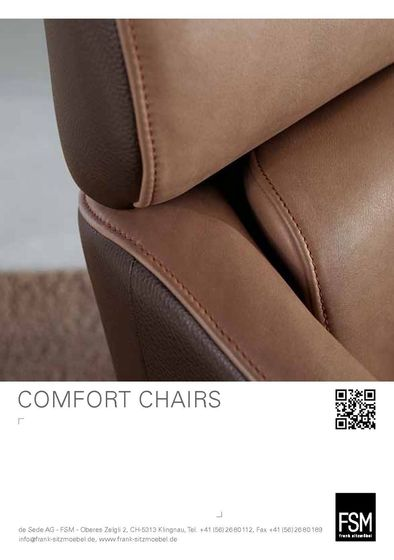 Catalogue Comfort Chairs / Sofas