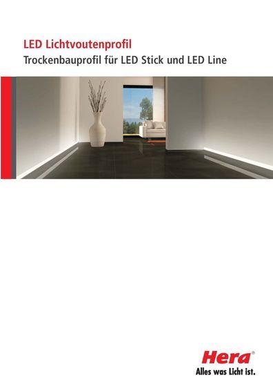 Hera - LED Lichtvoutenprofil Trockenbauprofil für LED Stick und LED Line