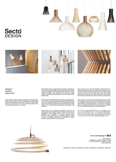 Secto Design Leaflet 2016