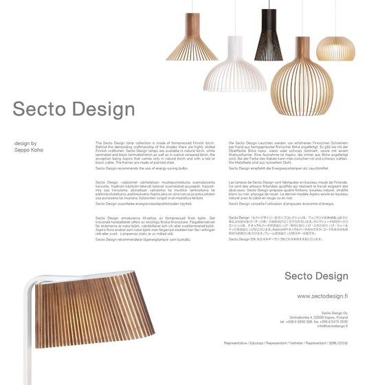 Secto Design Leaflet 2014